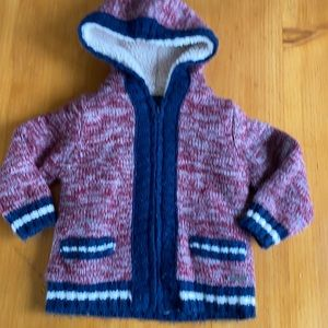 Mayoral Hooded Fleeced lined zip cardigan size 2